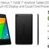 Offre: Nexus 7 (2013) pour 149,99 $, nouvelle-in-box