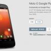 Moto G édition Google Play maintenant dans le Play Store: de stock Android frappe 179 $