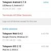 Telegram 2.7 ajoute de gestion de session, 2-Step vérification et Lien Previews
