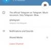 Telegram v3.2 apporte canaux pour la diffusion de vos messages vers le monde