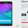 Verizon prend le Galaxy Note bord au prix de 399 $ avec un contrat de deux ans ou 799 $ sans