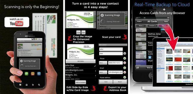 Il Ya Des Applications Visant A Numeriser Cartes De Visite Et Ceux Qui Ont Ete Faites Pour Les Lire Lorsque Vous Utilisez ScanBizCards Biz Card