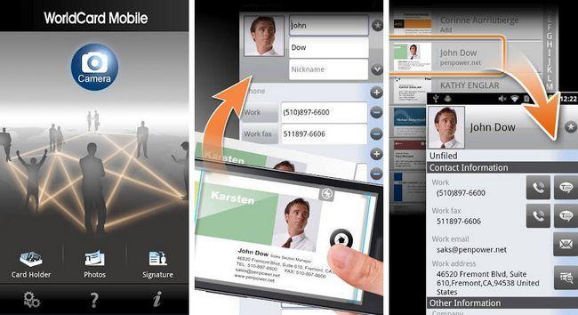 WorldCard Mobile Est Une Carte De Visite Lapplication Lecture Prime Il Aussi Facile A Utiliser Que La Plupart Des Cartes Applications