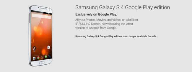 Fotografía - Galaxy S4 Google Play édition congés officiellement le Play Store