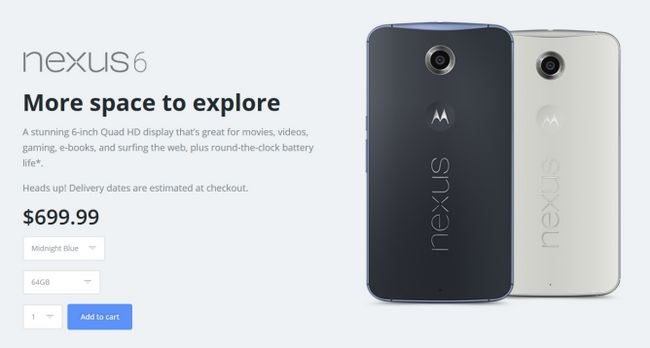Fotografía - Motorola a le 64Go Bleu Nexus 6 En Stock Right Now-Se