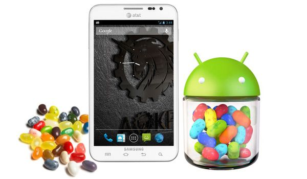 Galaxy Note 2 jelly bean Android